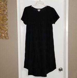 LuLaRoe Black Pintuck Carly Dress